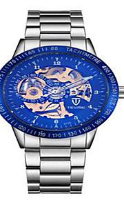 Tevise Masculino Mulheres Casal Relógio de Moda relógio mecânico Quartzo Calendário Impermeável Luminoso Aço Inoxidável BandaVintage