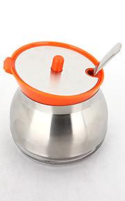304 rustfritt stål, glass smaks flaske 300ml oransje
