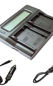 ismartdigi lpe8 lcd dual oplader med bil afgift kabel til Canon EOS 700D 650D 600D 550D kamera batterys