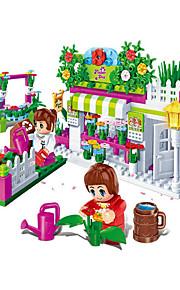 Barraca de Brinquedo / Casa de Boneca para presente Blocos de Construir Modelo e Blocos de Construção Mobília / Casa / Arquitetura ABS5 a