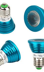 3W E26/E27 LED-spotpærer MR16 1 Høyeffekts-LED 240 lm RGB Dekorativ V 4 stk.