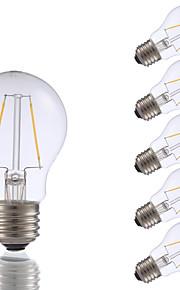 2W E26 LED-glødepærer A17 2 COB 200 lm Varm hvit Dimbar AC 110-130 V 6 stk.