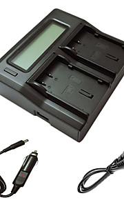ismartdigi dli90 lcd dual oplader med bil afgift kabel til PENTAX K7 k-7 K5 k-5ii k52s iis K01 645D kamera batterys