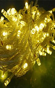 10m-100 førte til jul dekorasjon varm hvit farge fairy streng lys