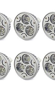 3W GU5.3(MR16) LED-spotpærer MR16 Høyeffekts-LED 280 lm Varm hvit / Kjølig hvit V 6 stk.