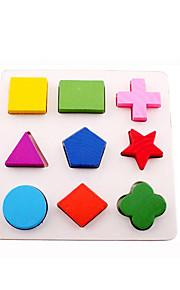 puslespil Byggeklodser / 3D-puslespil / Pædagogisk legetøj Byggesten DIY legetøj Cirkelformet / Firkantet / Cylinder-formet / Trekant 9