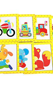 puslespil Puslespil Byggesten DIY legetøj Træ Regnbue