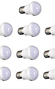 7W E26/E27 LED-globepærer SMD 2835 550 lm Kjølig hvit Dekorativ AC110 / AC220 V 10 stk.