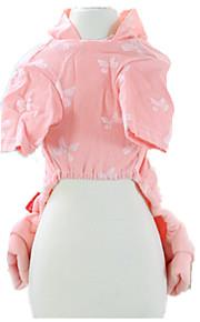 犬用品 セット ピンク 犬用ウェア 冬 / 春/秋 蝶結び カジュアル/普段着