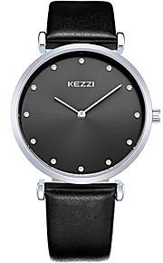 KEZZI Casal Relógio de Moda Relógio de Pulso Quartzo / Couro Banda Legal Casual Preta Branco Marrom Branco Preto Marron