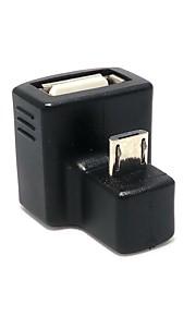 neue 180-Grad abgewinkelte Micro-USB-OTG-USB 2.0 Buchse Verlängerungsadapter für Handy herunter&Tablette