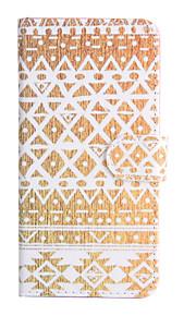 Für Geldbeutel / Kreditkartenfächer / mit Halterung / Flipbare Hülle Hülle Handyhülle für das ganze Handy Hülle Geometrische Muster Hart