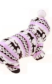 Perros Saco y Capucha / Mono Rosado Ropa para Perro Invierno / Primavera/Otoño Flores / Botánica Deportes / Mantiene abrigado