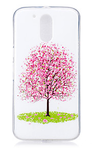 For Motorola MOTO G4 Case Cover Tree Pattern Luminous TPU Material IMD Process Soft Phone Case