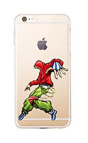 Para Transparente / Diseños Funda Cubierta Trasera Funda Dibujos Suave TPU para AppleiPhone 7 Plus / iPhone 7 / iPhone 6s Plus/6 Plus /