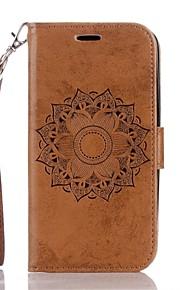 Für Geldbeutel Kreditkartenfächer mit Halterung Flipbare Hülle Geprägt Hülle Handyhülle für das ganze Handy Hülle Mandala Hart PU - Leder
