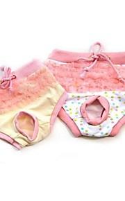 katten / honden Broeken Geel / Roze Hondenkleding Winter / Zomer / Lente/Herfst Kleurenblok Schattig