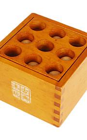 Samle & Vikl ud puslespil Kong Ming Lock Legetøj Originalt legetøj Firkantet Træ Beige Til drenge Til piger5 til 7 år 8 til 13 år 14 år