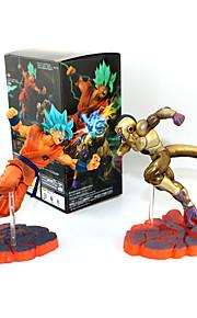 Bola de Dragón Son Goku PVC 14CM Las figuras de acción del anime Juegos de construcción muñeca de juguete