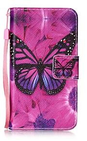 Per A portafoglio / Porta-carte di credito / Con supporto / Con chiusura magnetica / Fantasia/disegno Custodia Integrale Custodia Farfalla