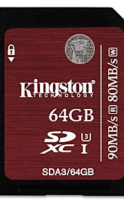 Kingston 64Gb SD Card geheugenkaart UHS-I U3 Class10
