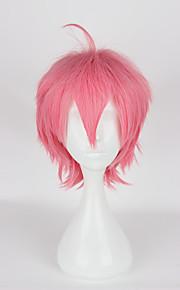 Pelucas de Cosplay Cosplay Cosplay Rosa Corto Animé Pelucas de Cosplay 35cm CM Fibra resistente al calor Mujer