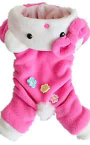 Dog Clothes/Jumpsuit Pink Dog Clothes Winter / Spring/Fall Animal Cute / Casual/Daily