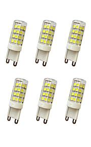 5W E14 / G9 / G4 LED Bi-pin Lights T 51LED SMD 2835 400-450LM  Warm White / Cool White Decorative AC110 / AC220 V 10 pcs