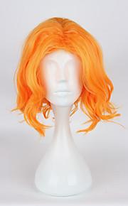 Pelucas de Cosplay Cosplay Cosplay Naranja Corto Animé Pelucas de Cosplay 35cm CM Fibra resistente al calor Hombre