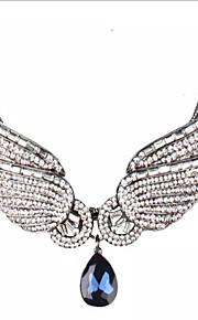 May Polly Europe and the United States fashion angel wings full diamond necklace