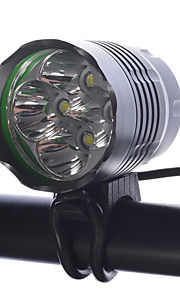 LED Flashlights/Torch Headlamps Bike Lights LED Cree XM-L T6 Cycling Dimmable Rechargeable Super Light Compact Size 18650 4000 Lumens