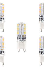 3W G9 LED-lamper med G-sokkel T 64 SMD 3014 210-230 lm Varm hvit Kjølig hvit Dimbar Vanntett AC110 AC220 V 5 stk.