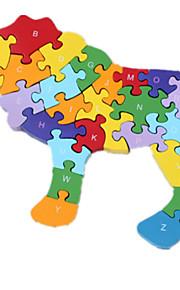 Quebra-cabeças Quebra-Cabeça Blocos de construção DIY Brinquedos 1 Madeira Arco-Íris