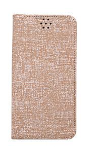 Для Кошелек / Бумажник для карт / со стендом / Флип Кейс для Чехол Кейс для Один цвет Твердый Искусственная кожа для Samsung S6 edge plus