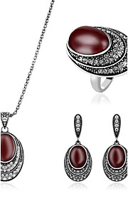 May polly Turkey style diamond ring necklace earrings set
