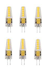 2W G4 LED-kornpærer T 10 SMD 2835 180-200 lm Varm hvit Kjølig hvit V 10 stk.
