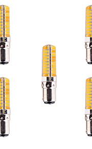 5pcs YWXLight® Dimmable BA15D 7W 80 SMD 5730 500-700 LM Warm White / Cool White Corn Bulbs AC 110V / AC 220V