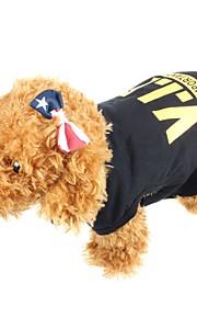 honden T-shirt / Gilet Oranje / Geel / Zwart Hondenkleding Zomer Letter & Nummer Modieus / Casual/Dagelijks