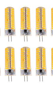 10pcs YWXLight® Dimmable G4 7W 80 SMD 5730 500-700 LM Warm White / Cool White LED Corn Bulbs AC 110V / AC 220V