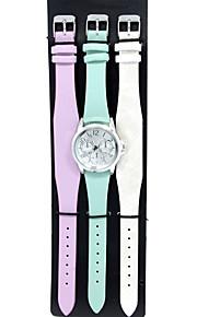Masculino / Mulheres Relógio de Moda / Bracele Relógio Quartzo Couro Banda Pendente / Casual Branco / Azul / Roxa marca