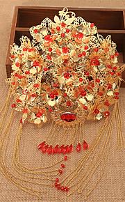 אביזרי לוליטה לוליטה קלאסית ומסורתית לבוש ראש בהשפעת וינטאג' מוזהב לוליטה אביזרים לבוש ראש ל נשים סגסוגת