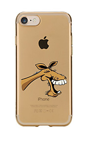 For Transparent Pattern Case Back Cover Case Cartoon Big Mouth Donkey Soft TPU for IPhone 7 7Plus iPhone 6s 6 Plus iPhone 6s 6 iPhone 5s 5 5E 5C
