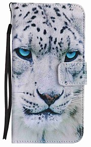 For Google Pixel XL Pixel Case Cover White Leopard Painted Lanyard PU Phone Case