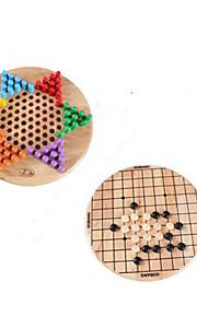 Bordspel / Chess Game / Educatief speelgoed voor Gift Bouwblokken Ontspannende hobby's Cirkelvormig / Vierkant Hout 5 tot 7 jaar Regenboog