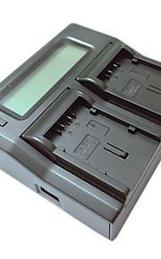 ismartdigi VBG130 260 lcd dual oplader med bil afgift kabel til Panasonic VBG130 260 kamera batterys