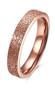 Ringe Daglig Afslappet Smykker Rustfrit Stål Titanium Stål Dame Ring 1 Stk.,6 7 8 9 Rose Guld