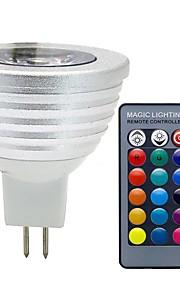 3W GU5.3(MR16) LED-spotpærer MR16 1 COB 300 lm RGB Dimbar Fjernstyrt Dekorativ DC 12 V 1 stk.
