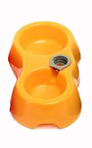 Cat Dog Bowls & Water Bottles Pet Bowls & Feeding Portable Yellow Plastic