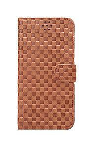 For Apple iPhone 6s Plus iPhone 6s iPhone 6 Plus iPhone 6 iPhone SE iPhone 5s iPhone 5 Case Cover The Grid Pattern PU Leather Case