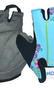 BODUN /SIDEBIKE® スポーツグローブ 子供用 サイクルグローブ 春 夏 秋 冬 サイクルグローブ 高通気性 耐摩耗性 耐久性 反射材 フィンガーレス ライクラ サイクルグローブ グリーン レッド ブルー サイクリング